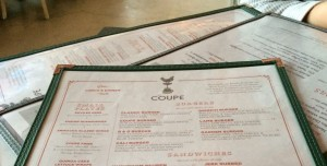Coupe Menu